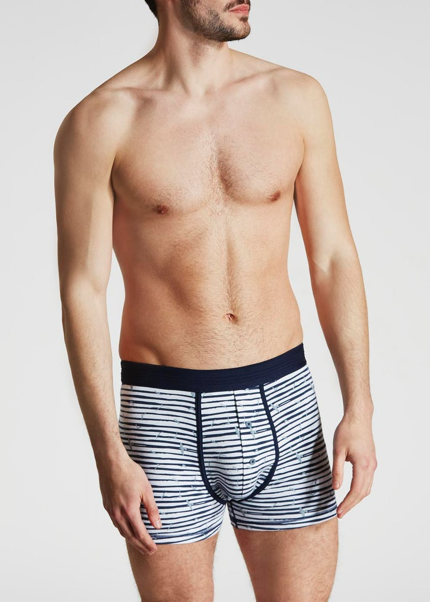 Coastal Bird Print Hipster Trunks