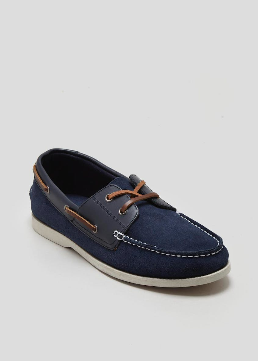 Real Suede Boat Shoes