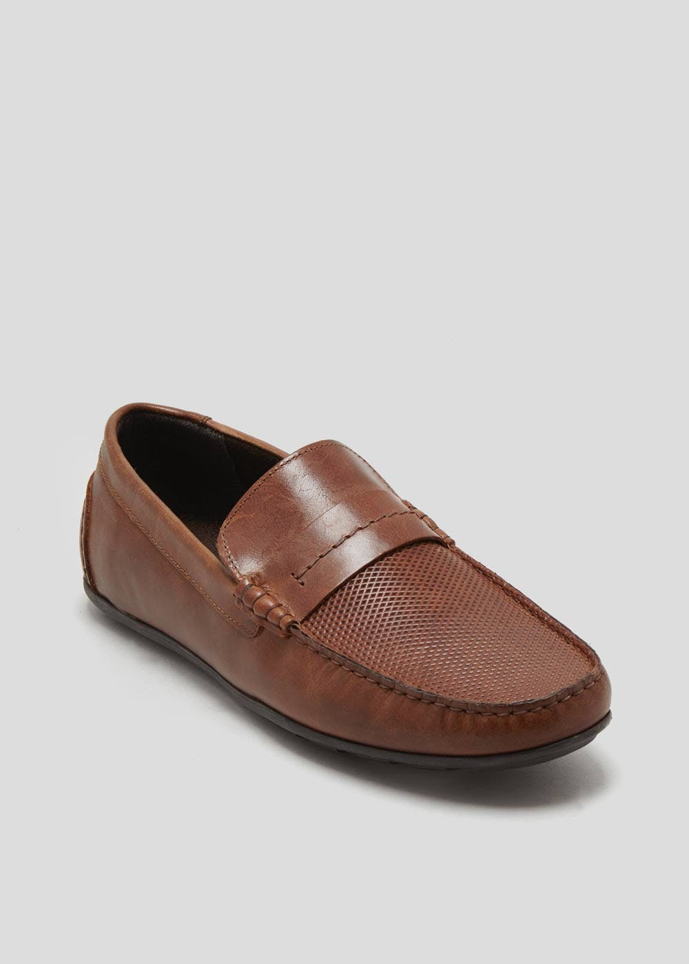 Real Leather Slip On Driver Loafers