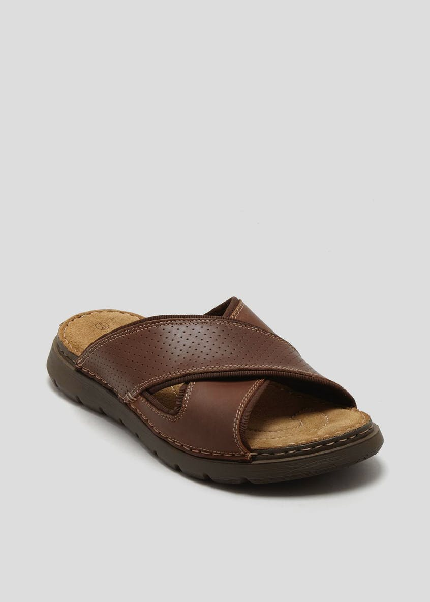 Soleflex Real Leather Mule Sandals