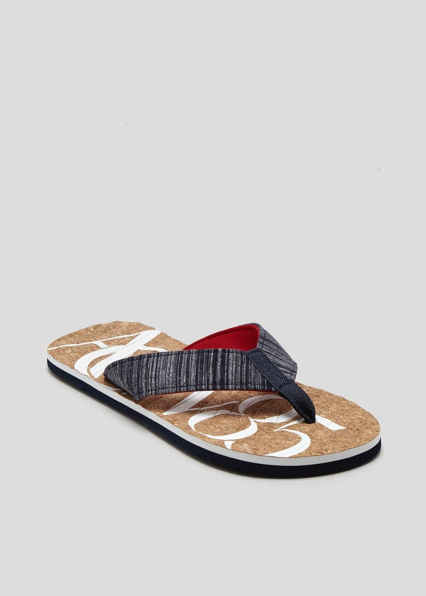 Cork Canvas Toe Post Sandals