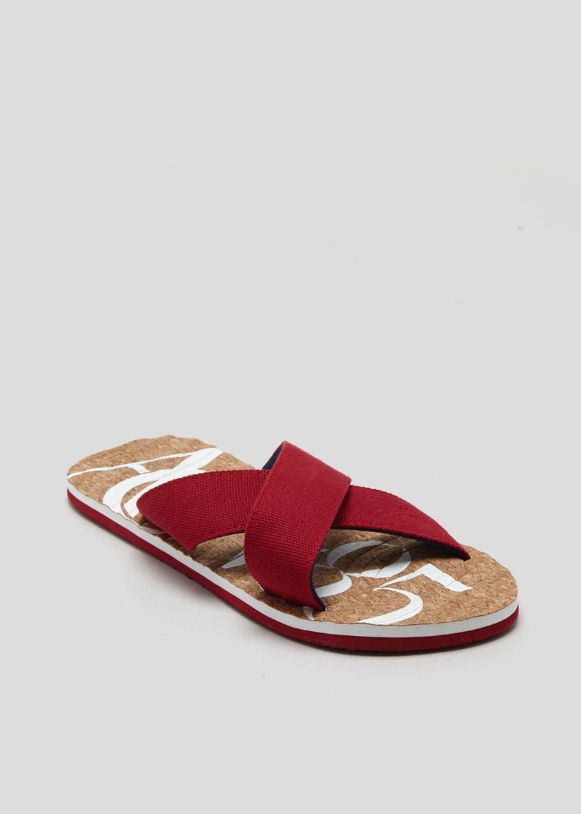 Cork Canvas Mule Sandals
