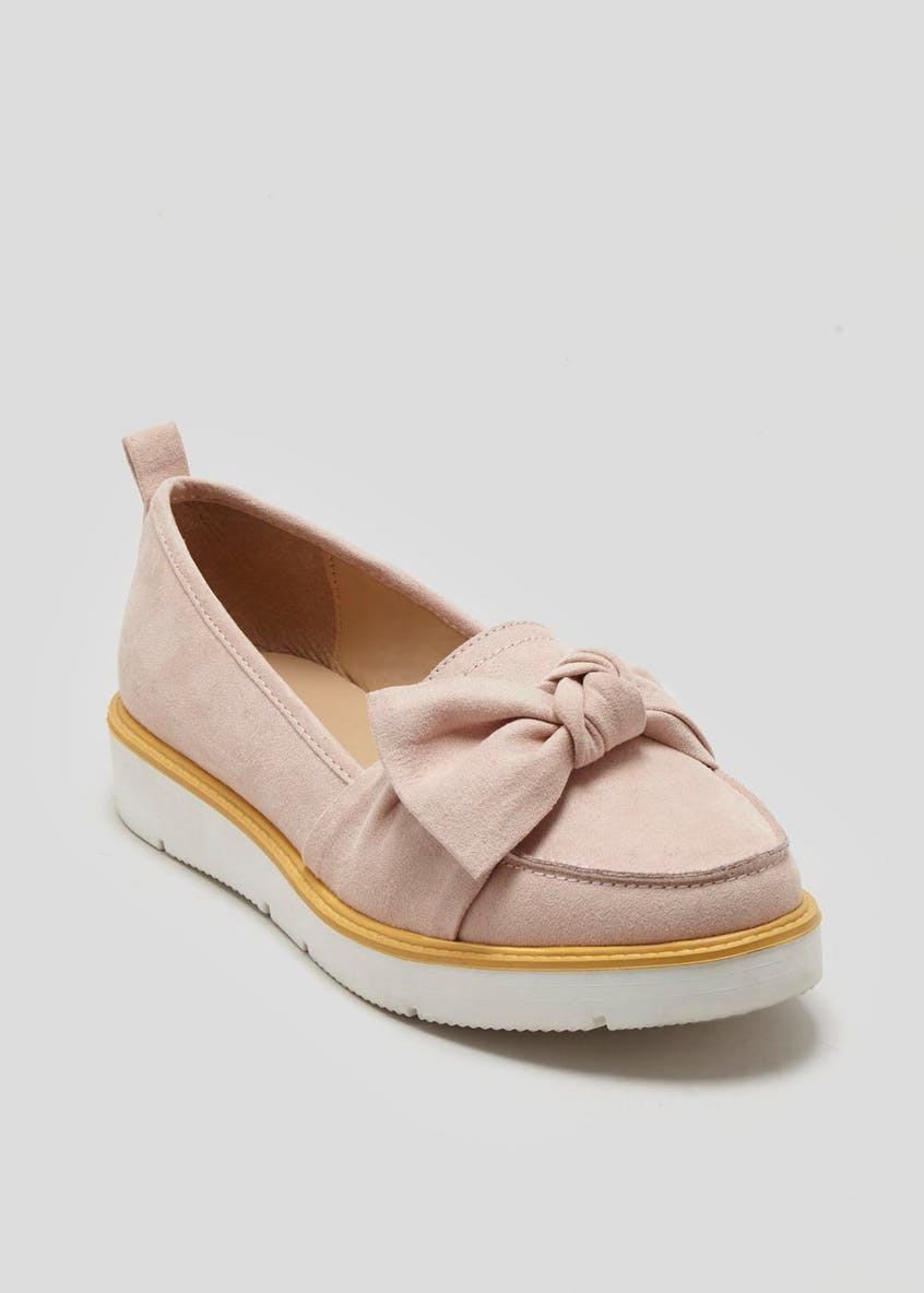 Knot Bow Chunky Loafers