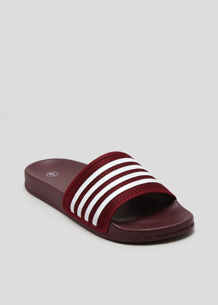 Mesh Stripe Sliders