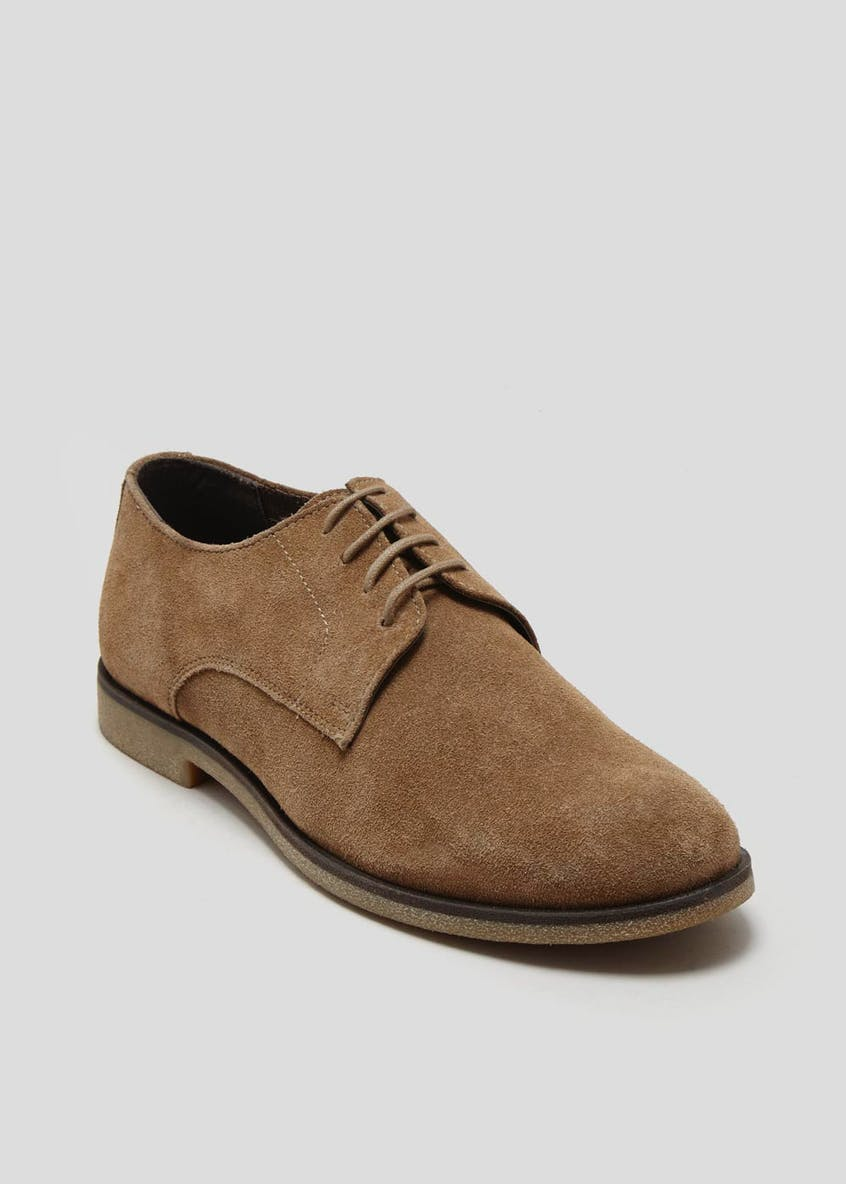 Real Suede Crepe Sole Derby Shoes