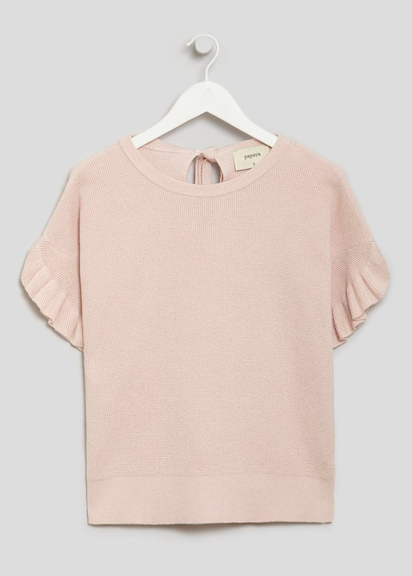 Frill Sleeve Knitted Top