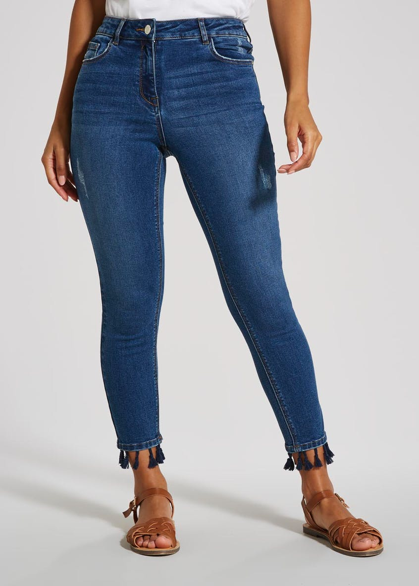 April Tassel Super Skinny Ankle Grazer Jeans