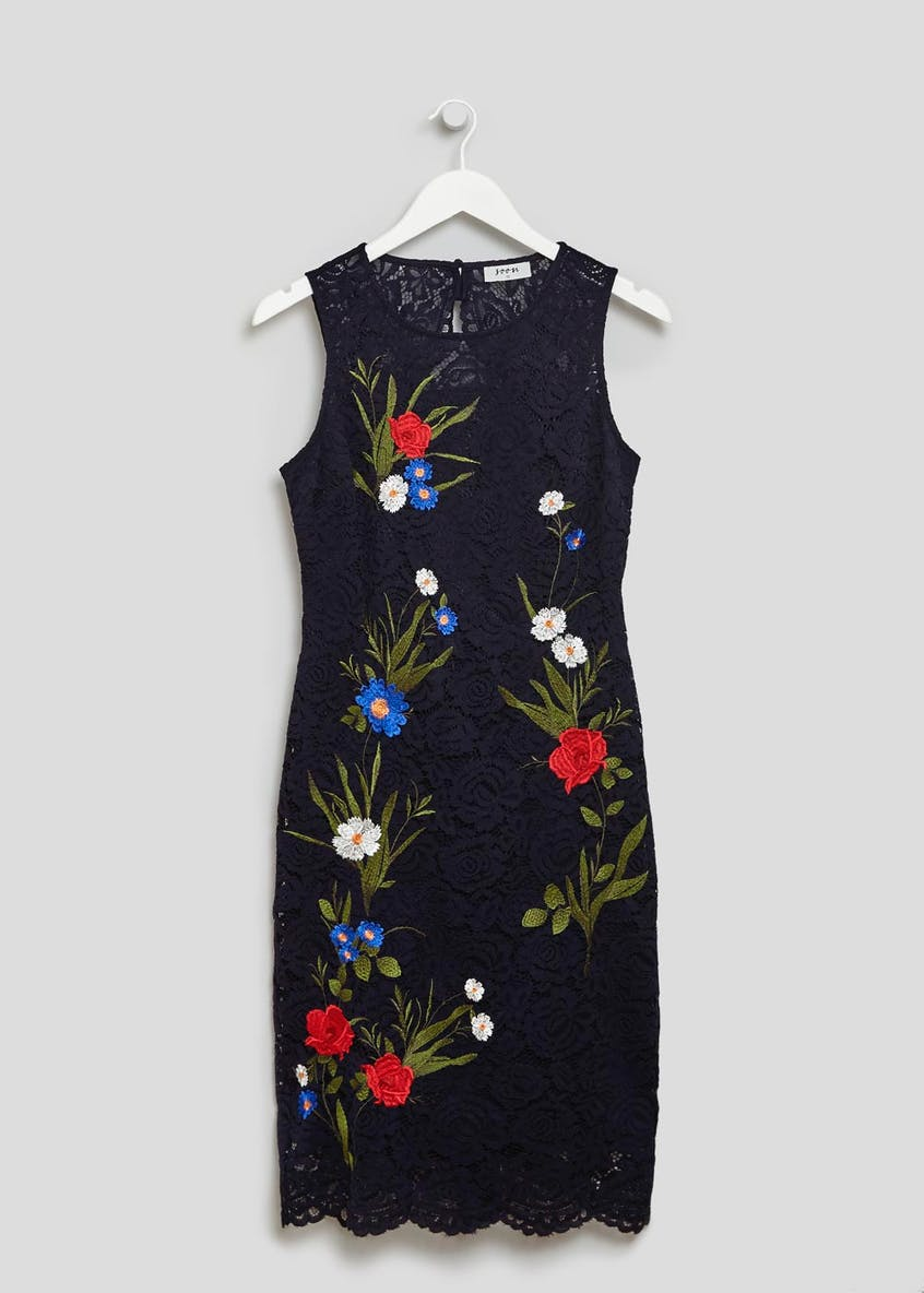 Soon Embroidered Floral Lace Pencil Dress