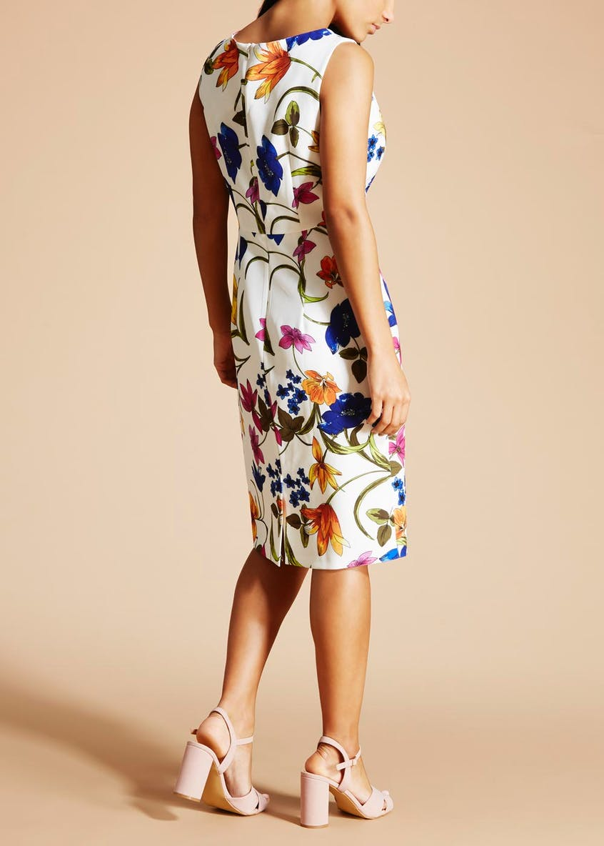 Soon St Lucia Floral Pencil Dress - White