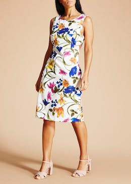 Soon St Lucia Floral Scuba Pencil Dress