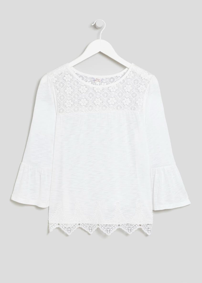 Falmer Lace Bell Sleeve Top