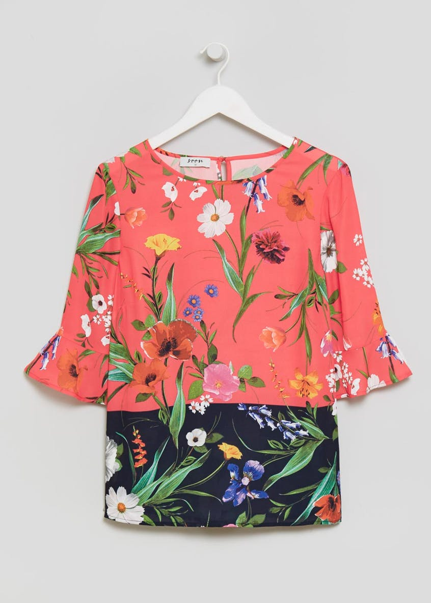 Soon Meadow Floral Bell Sleeve Blouse