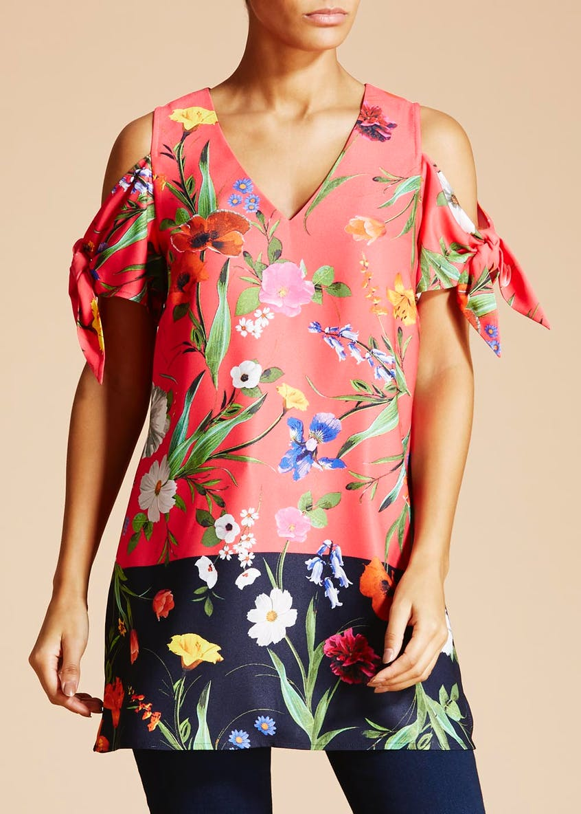 Soon Meadow Floral Cold Shoulder Tunic