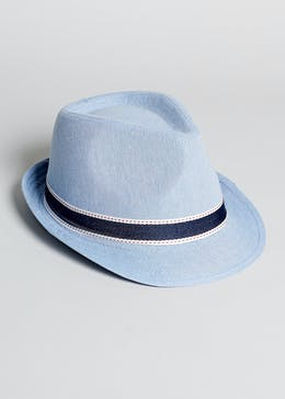 Boys Denim Trilby Hat (4-13yrs)