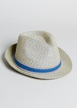 Boys Straw Trilby Hat (4-13yrs)