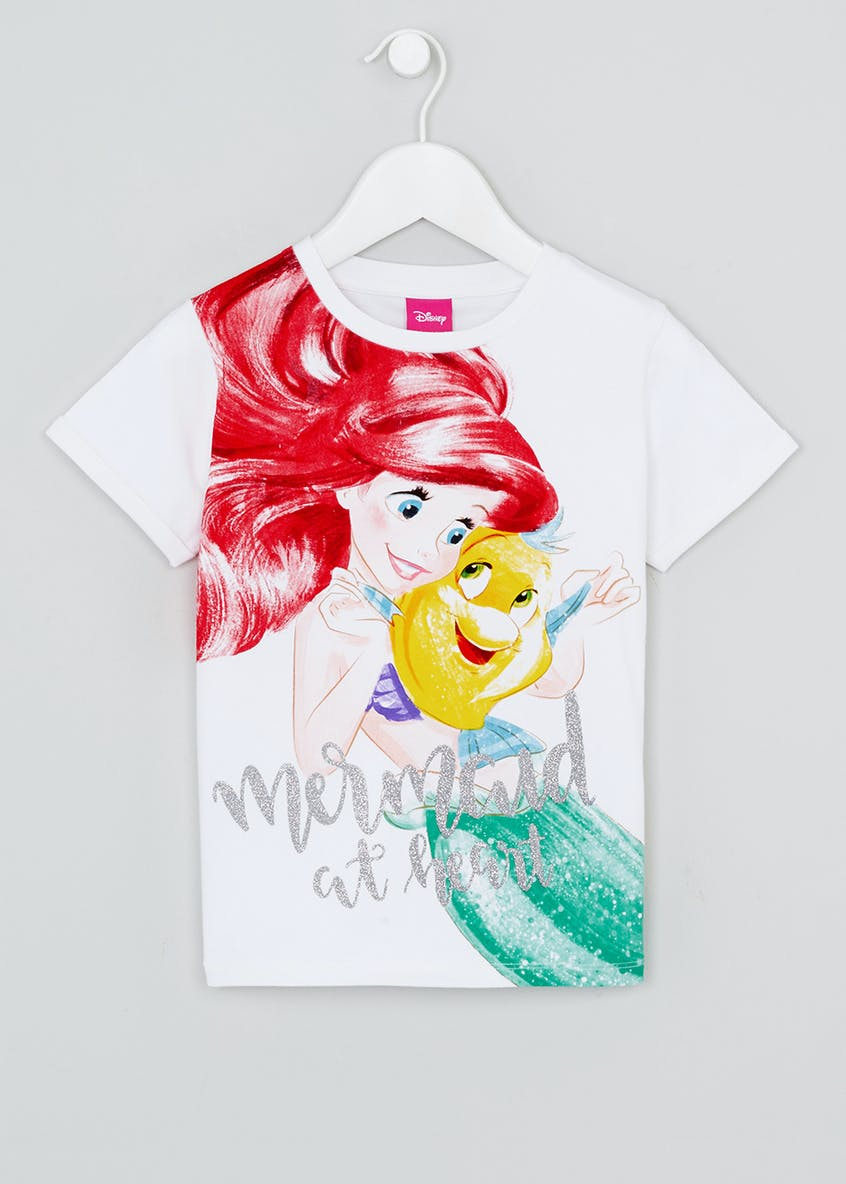 Kids Little Mermaid Slogan T-Shirt (2-9yrs)
