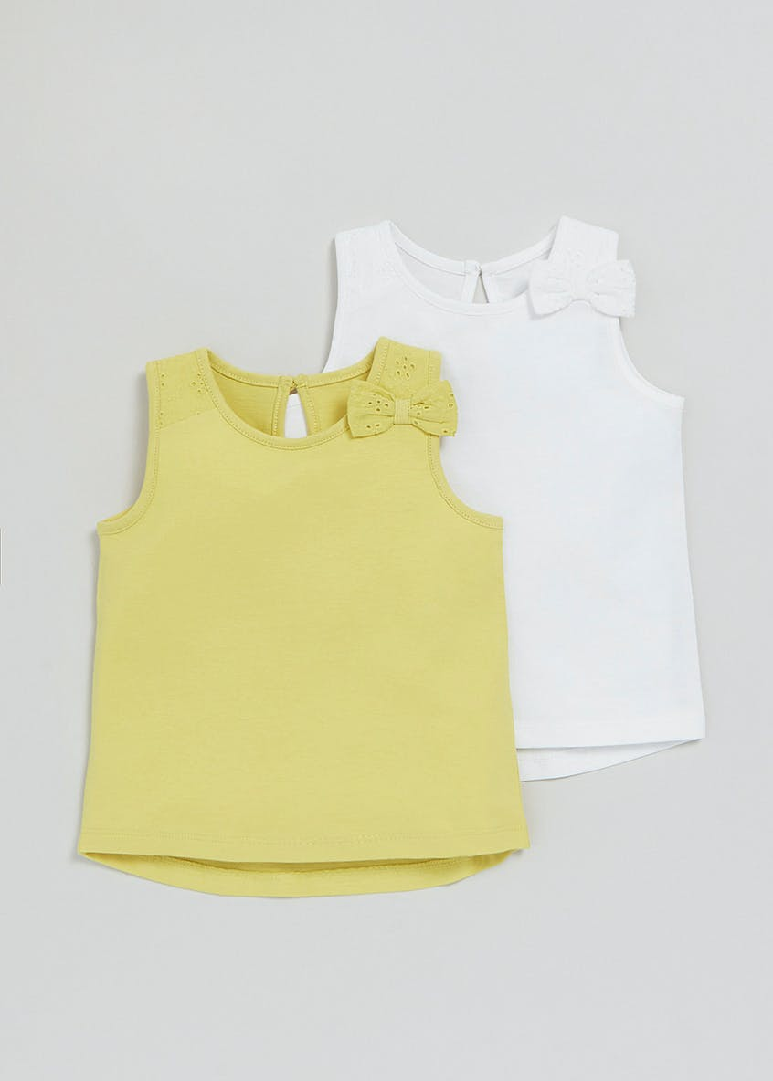 Girls 2 Pack Vests (3mths-6yrs)