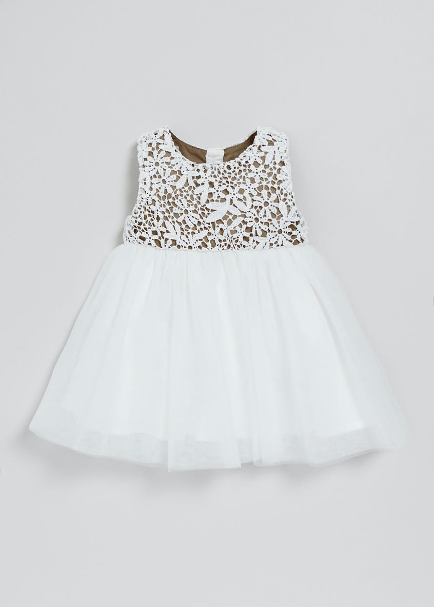 Girls Crochet Lace Occasion Dress (Newborn-18mths)