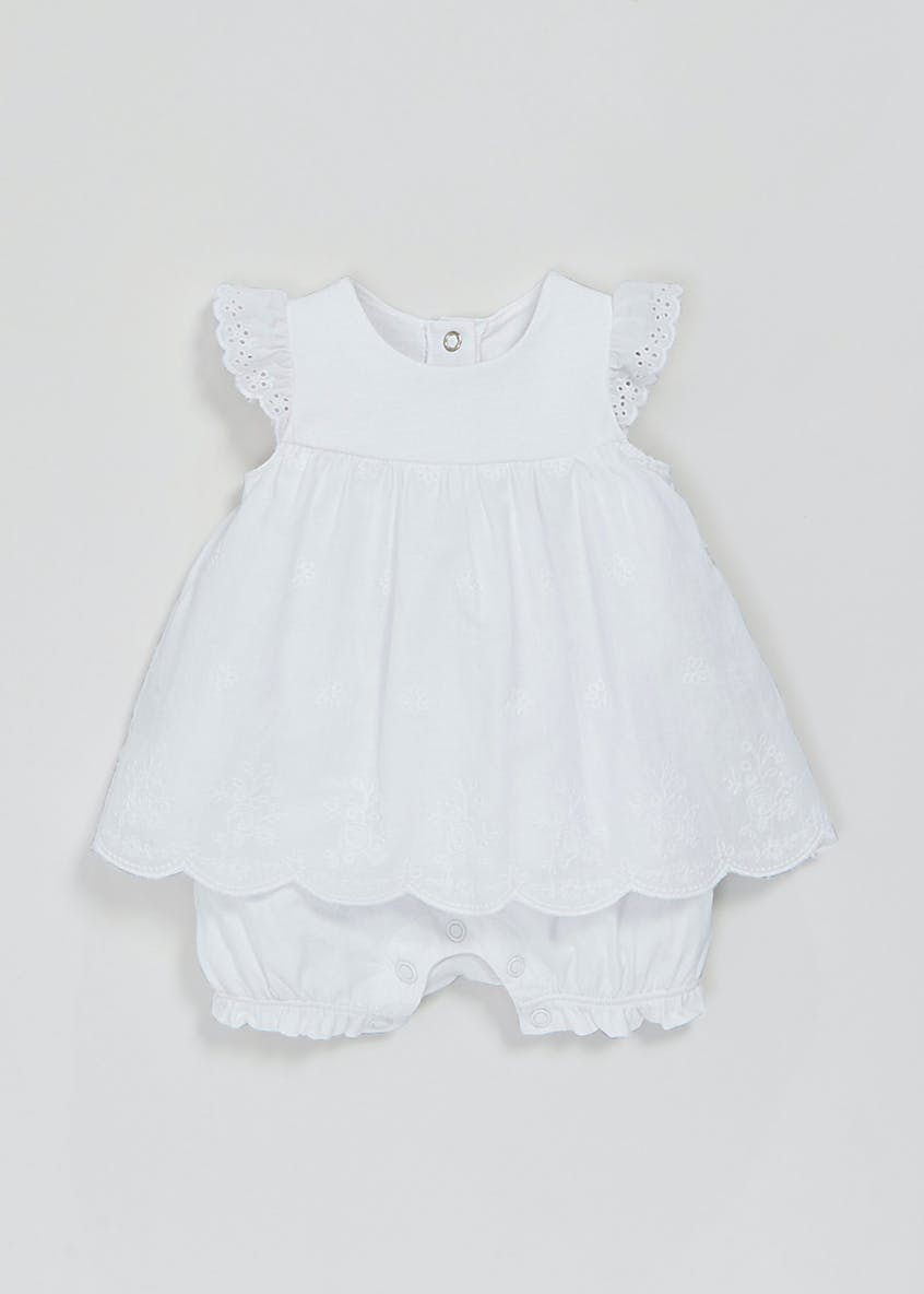 Girls Mock Dress Romper (Newborn-23mths)