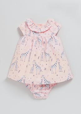 Girls Giraffe 2 Piece Dress Set (Tiny Baby-18mths)