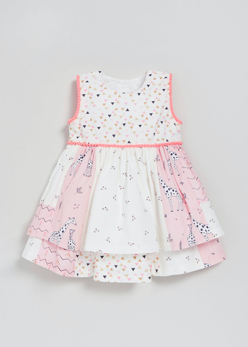Girls Tiered Patchwork Dress (Newborn-18mths)