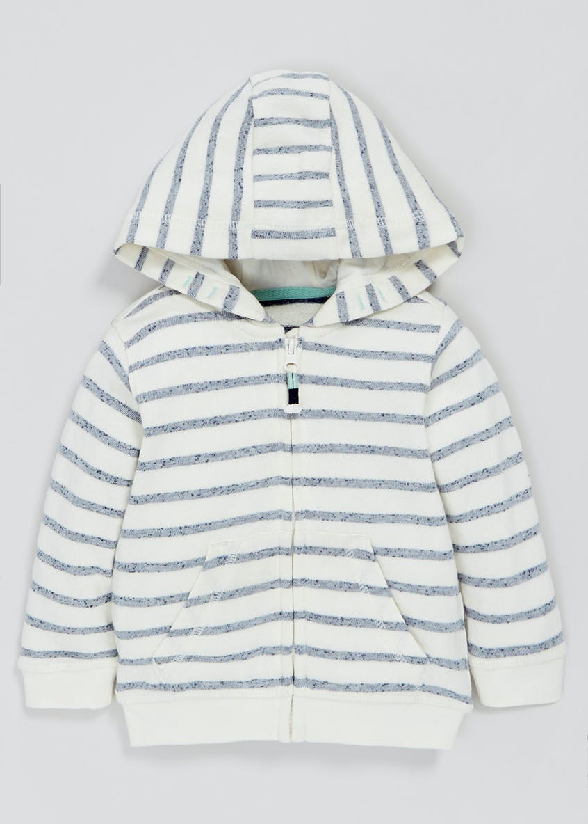 Boys Stripe Zip Through Hoodie (3mths-6yrs)