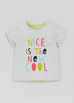 Girls Slogan T-Shirt (3mths-6yrs)
