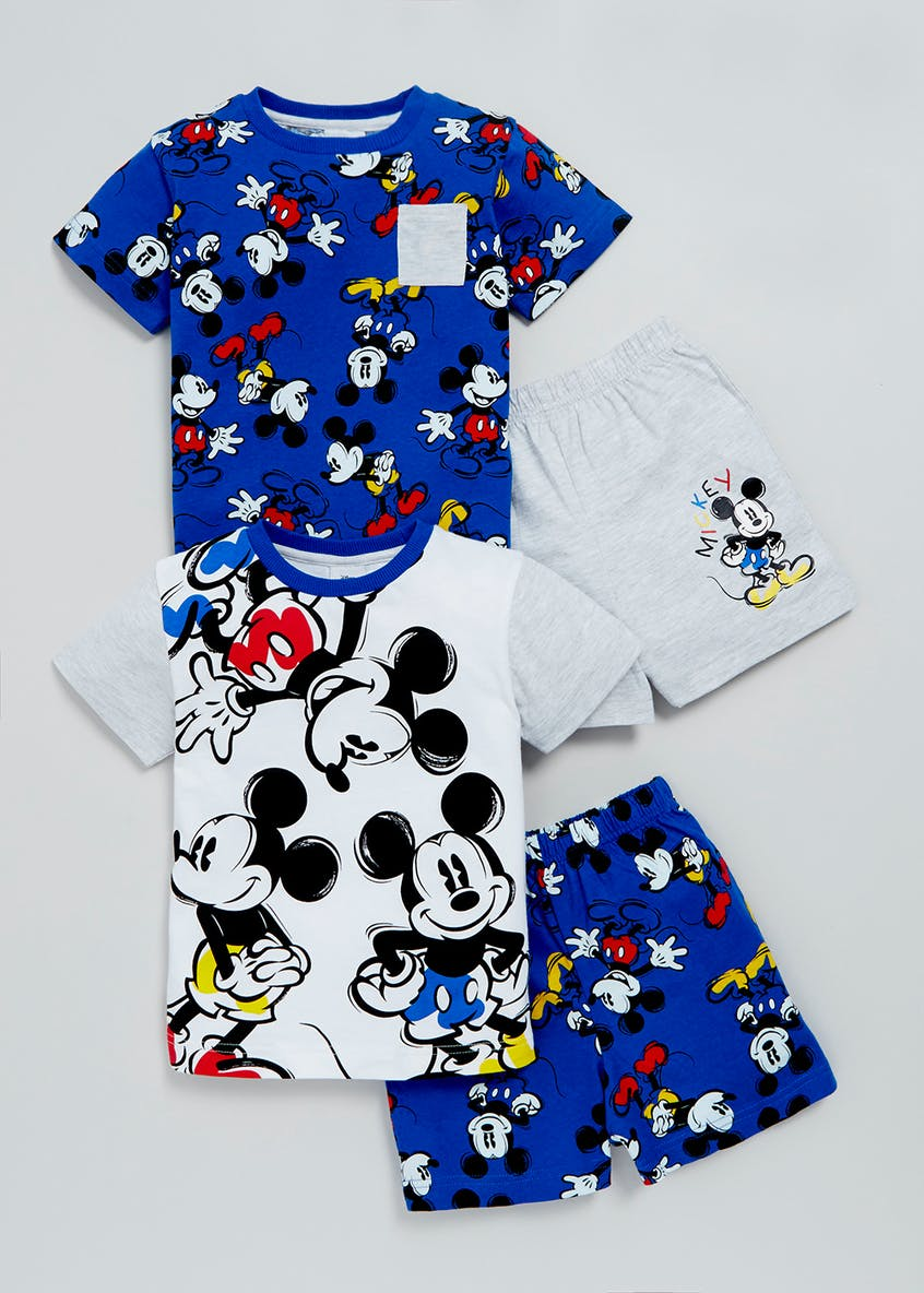 Kids 2 Pack Mickey Mouse Pyjamas (3mths-4yrs)