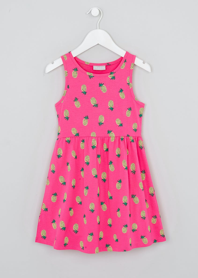Girls Pineapple Jersey Dress (4-13yrs)