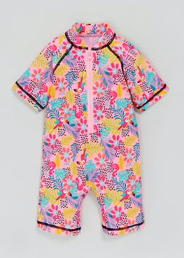 Girls Tropical Print Surf Suit (3mths-5yrs)