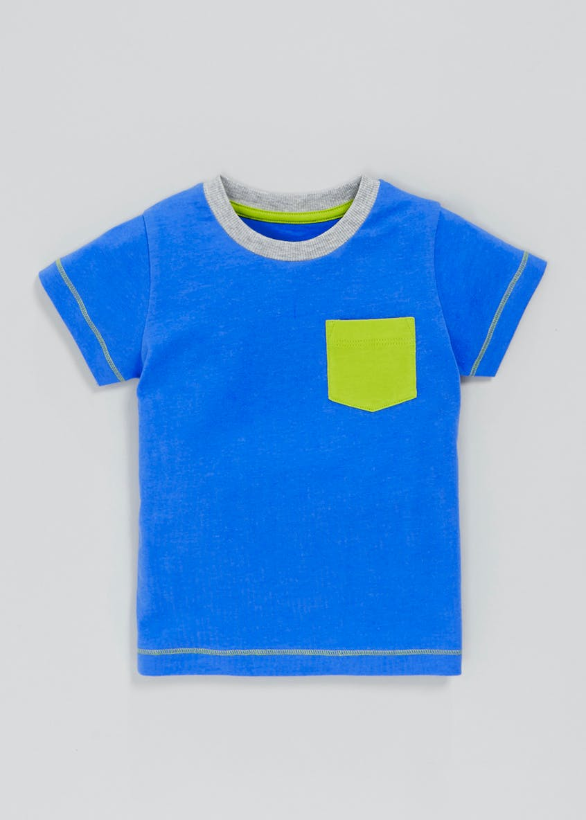 Boys Contrast Pocket T-Shirt (3mths-6yrs)