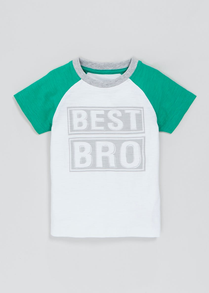 Boys Best Bro Slogan T-Shirt (3mths-6yrs)
