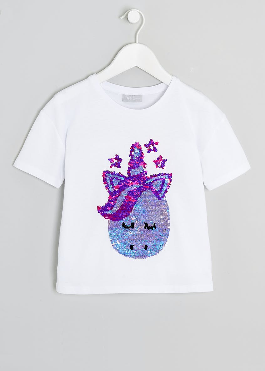 Girls Sequin Unicorn T-Shirt (4-13yrs)