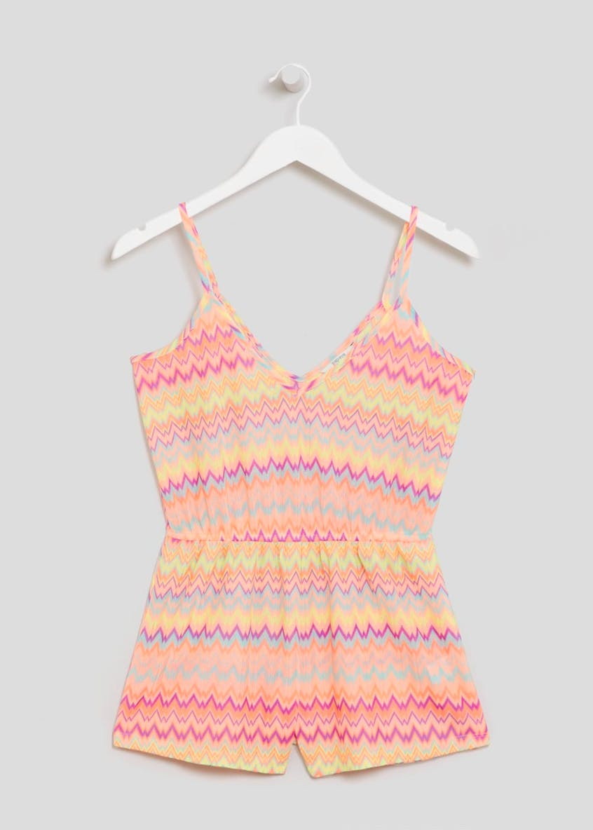 Zig Zag Beach Playsuit