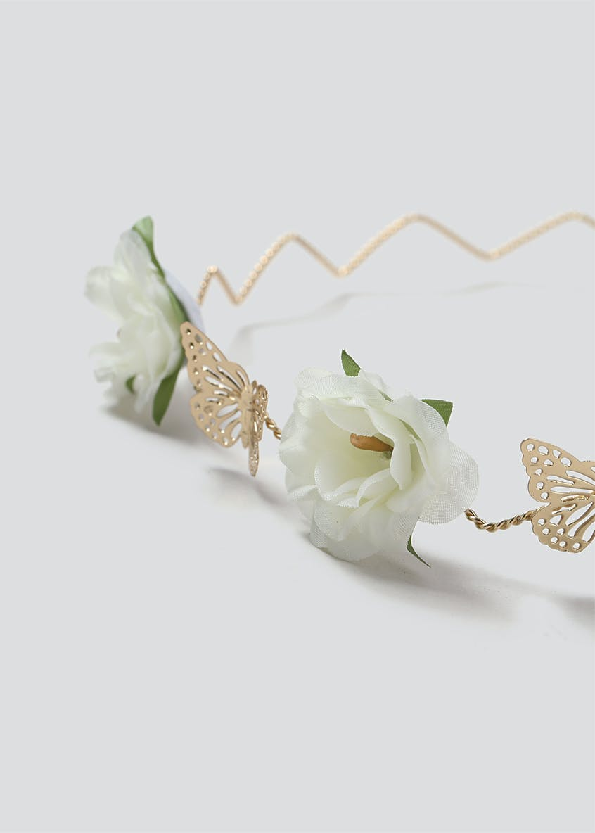 Butterfly Flower Hair Garland