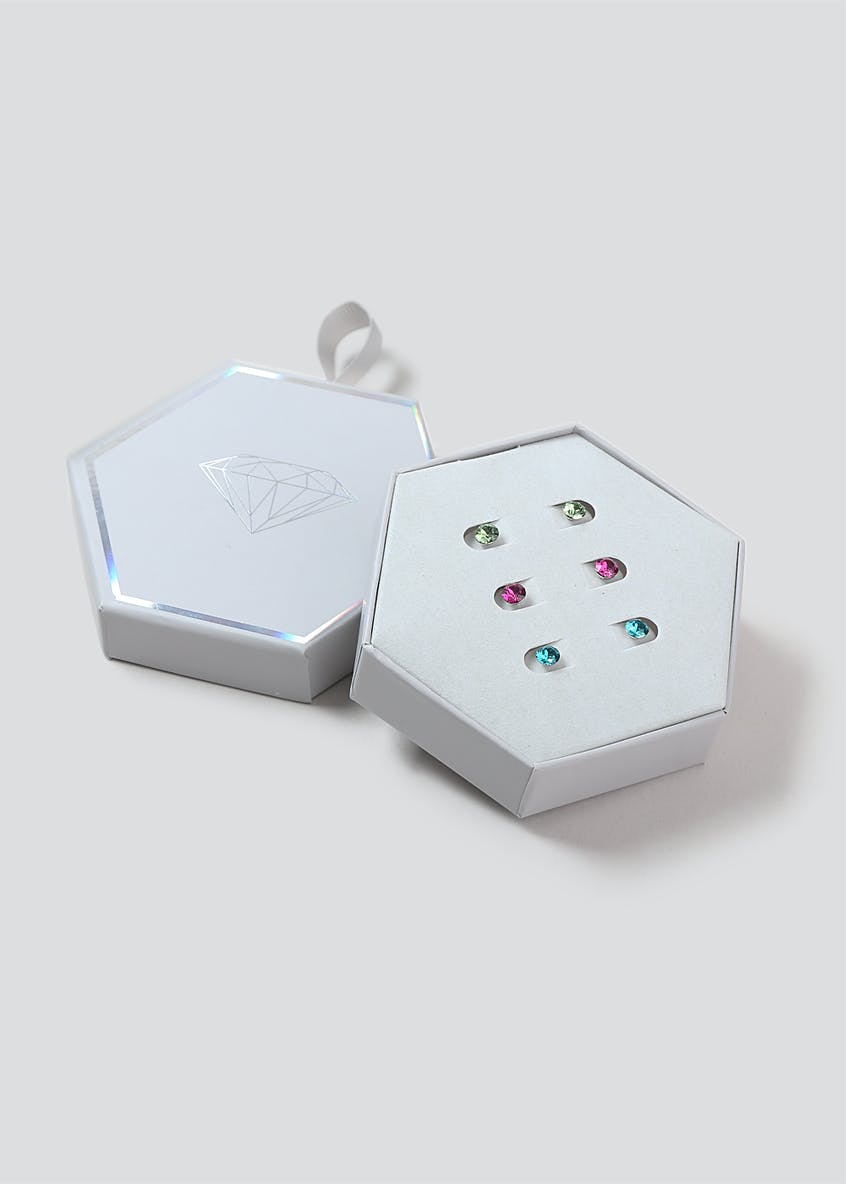 Swarovski Elements 3 Pack Earrings Gift Box