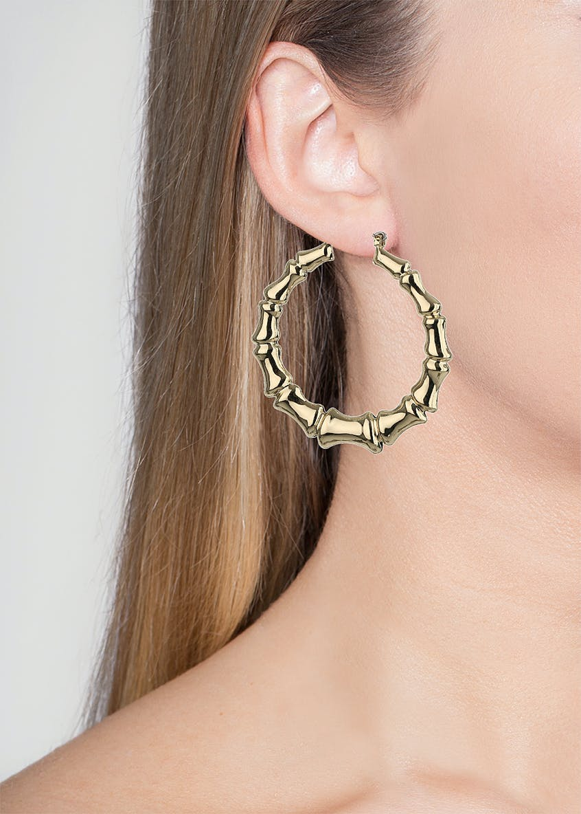 Engraved Statement Hoop Earring