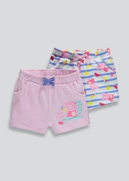 Kids Peppa Pig 2 Pack Shorts (12mths-5yrs)