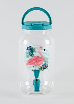 Flamingo Print Drinks Dispenser
