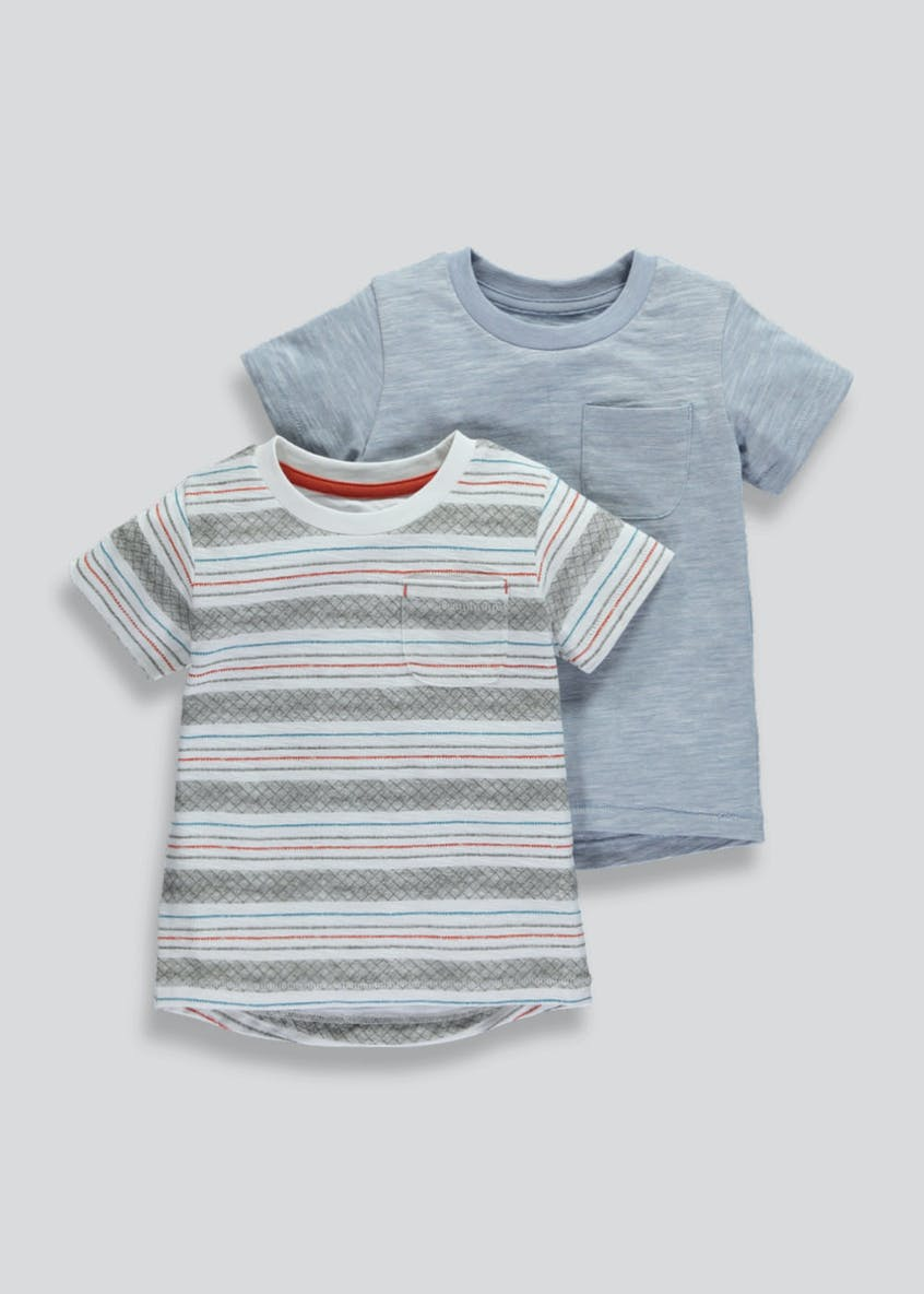Boys 2 Pack T-Shirts (3mths-6yrs)
