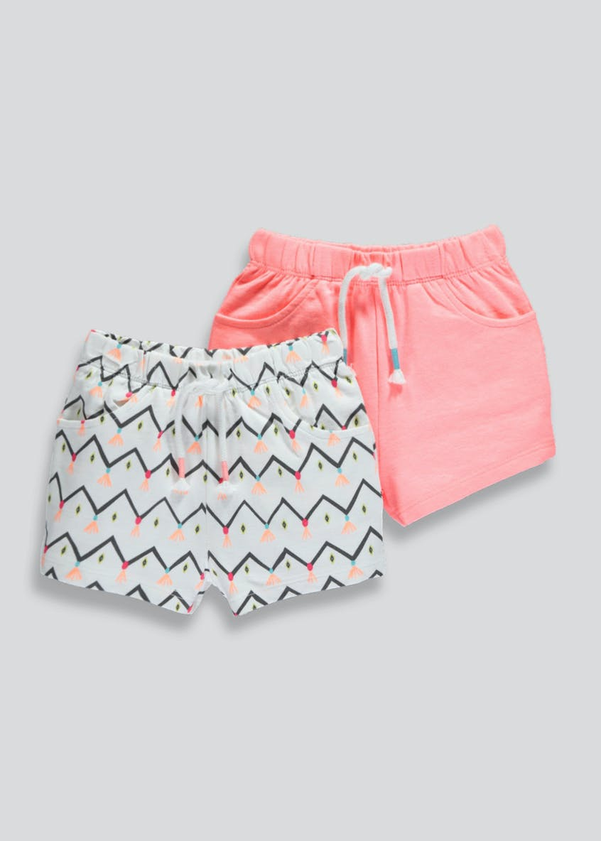 Girls 2 Pack Shorts (3mths-6yrs)