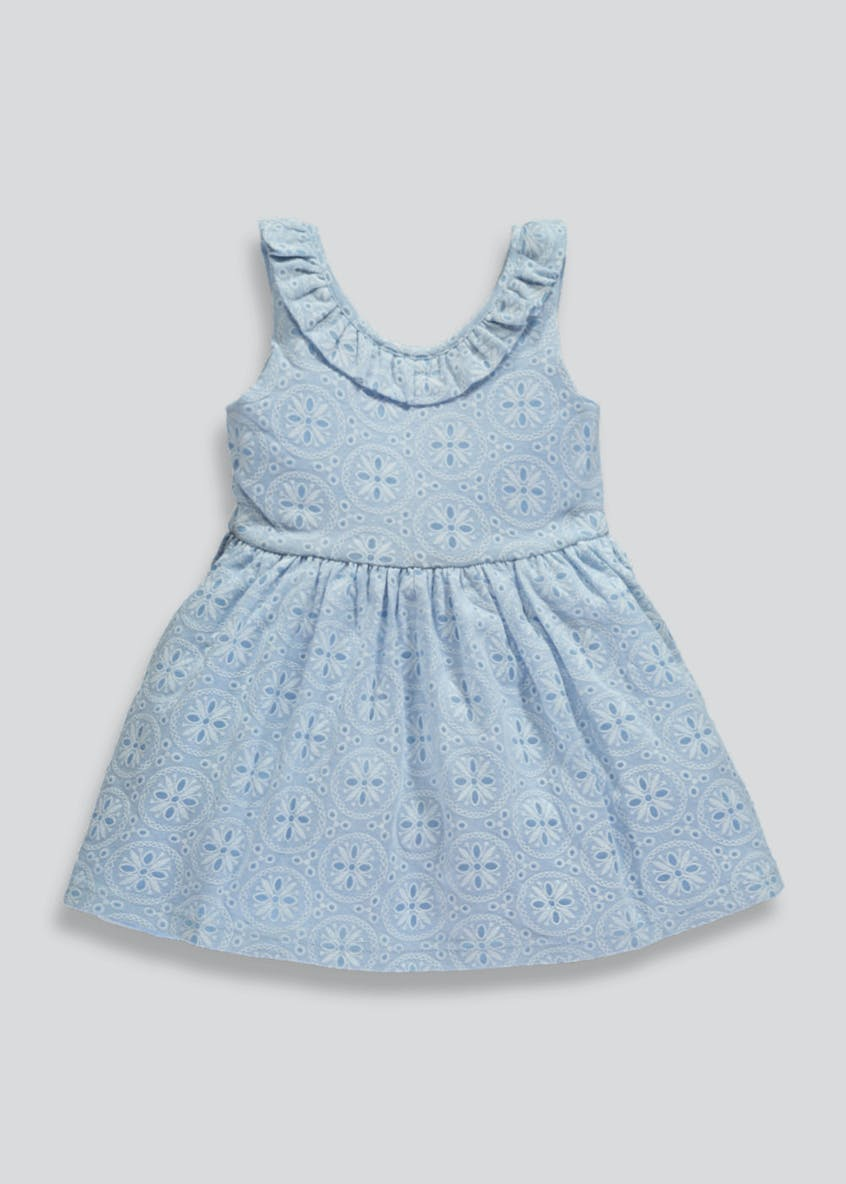 Girls Embroidered Ruffle Prom Dress (3mths-6yrs)