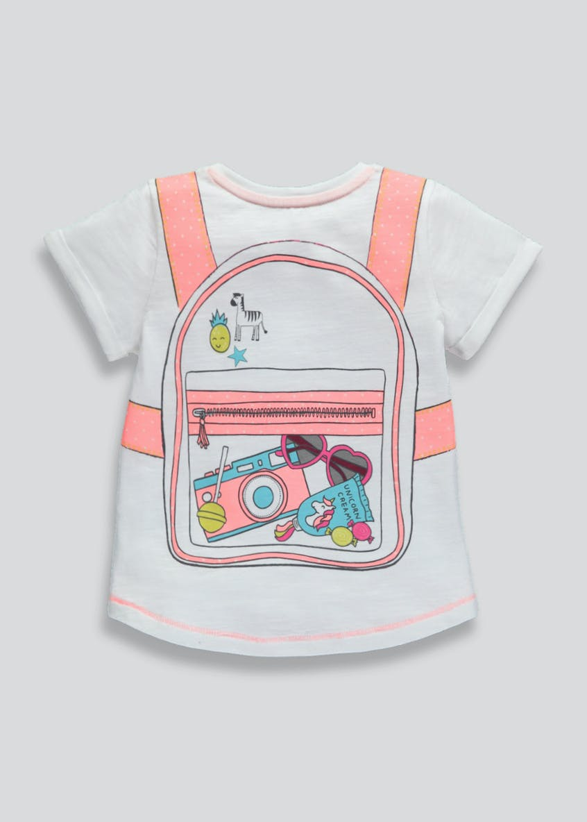 Girls Backpack T-Shirt (3mths-6yrs)