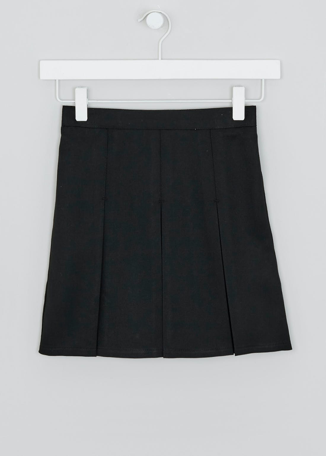 Girls Black Box Pleat School Skirt (3-16yrs)