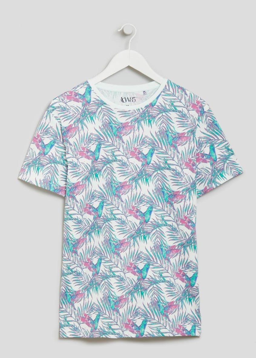 Big & Tall Floral & Bird Print T-Shirt