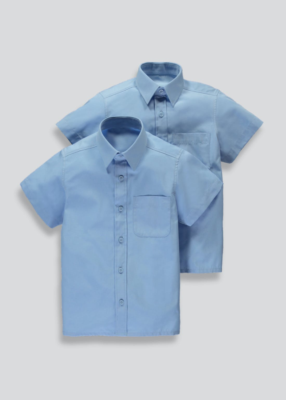 Boys 2 Pack Short Sleeve School Shirts (4-16yrs)