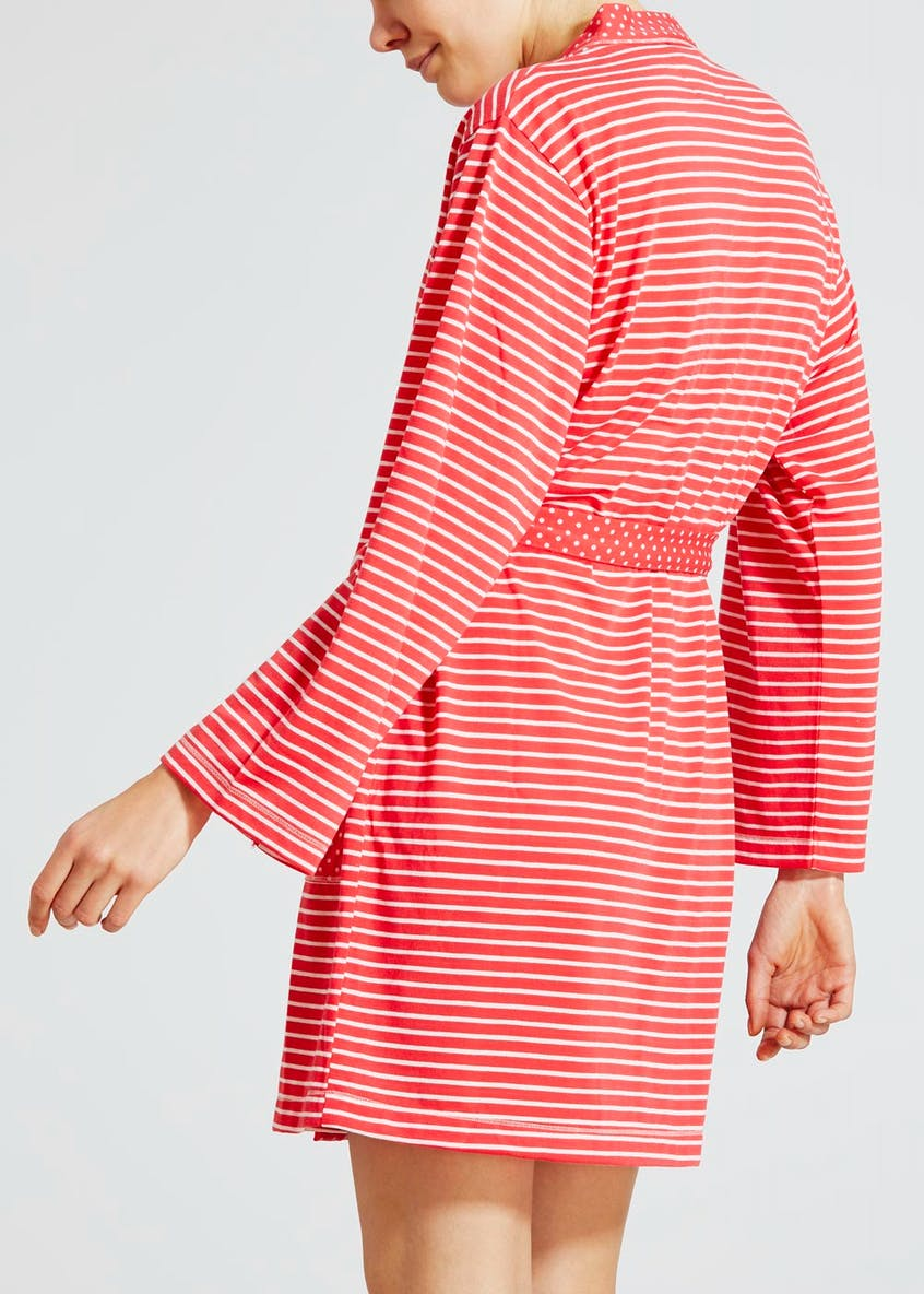 Spot & Stripe Short Dressing Gown