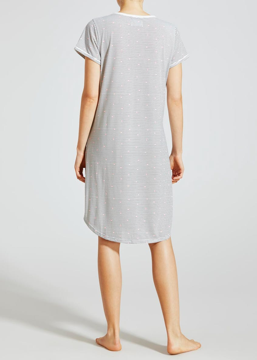 Spot & Stripe Button Nightie