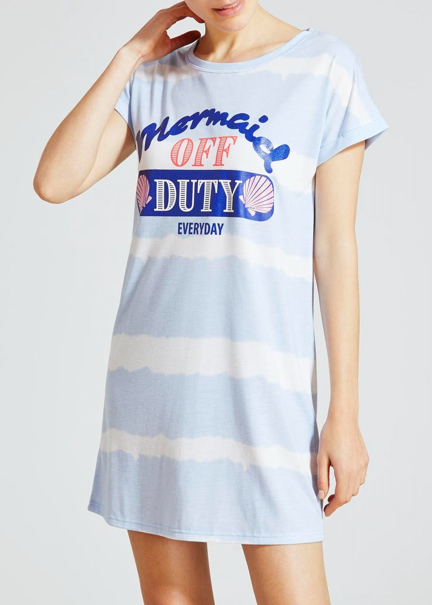 Mermaid Slogan Nightie