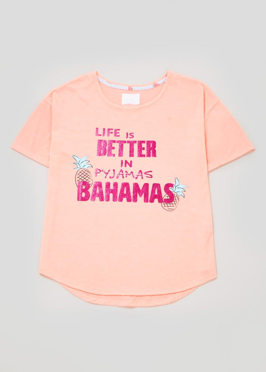 Mix & Match Bahamas Slogan Pyjama Top